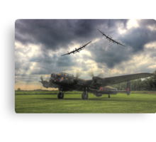 The Prince`s Break - The 3 Lancasters East Kirkby - HDR Canvas Print