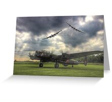 The Prince`s Break - The 3 Lancasters East Kirkby - HDR Greeting Card