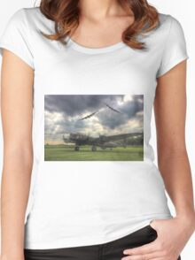 The Prince`s Break - The 3 Lancasters East Kirkby - HDR Women's Fitted Scoop T-Shirt