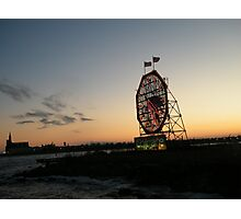 February Jersey City, New Jersey, Classic Colgate Clock at Sunset  Photographic Print