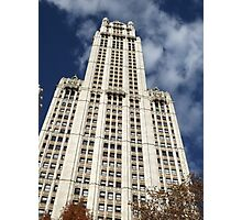 Classic Woolworth Building, Lower Manhattan, New York City Photographic Print