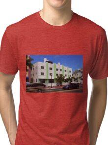 Miami Beach - Art Deco Tri-blend T-Shirt