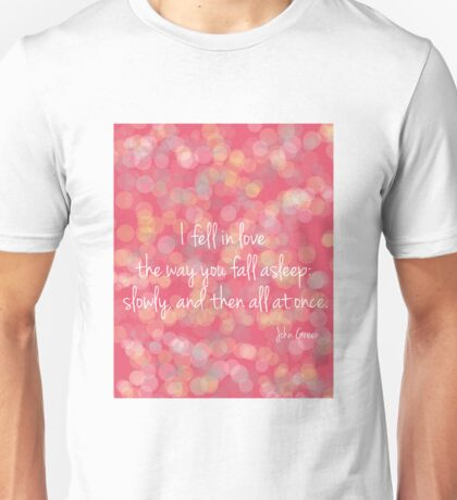 I fell in Love in pink Unisex T-Shirt