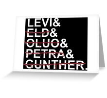 Squad Levi Greeting Card