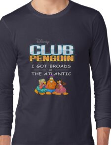 Club Penguin Panda / Broads in Atlanta  Long Sleeve T-Shirt