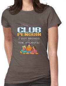 Club Penguin Panda / Broads in Atlanta  Womens Fitted T-Shirt