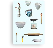 Love to Bake! - light blue background Metal Print