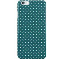 Retro Blue Polka dot iPhone Case/Skin