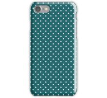 Retro Blue Polka dot iPhone Case/Skin