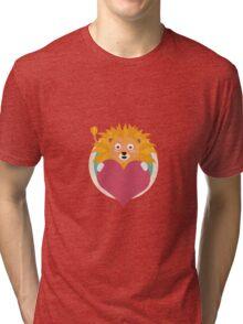 Love lion with heart Tri-blend T-Shirt