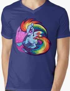 Double rainbow power Mens V-Neck T-Shirt