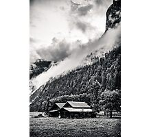 A Layer of Morning Fog- Gimmelwald, Switzerland Photographic Print