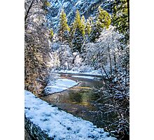Snowy Stream in Yosemite National Park Photographic Print