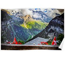 Alpen View- Gimmelwald, Switzerland Poster