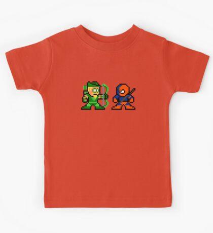 8-bit Green Arrow & Deathstroke Kids Tee