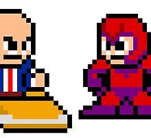 8-bit Professor X & Magneto by 8 Bit Hero