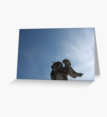 Angel Statue of Rome Greeting Card