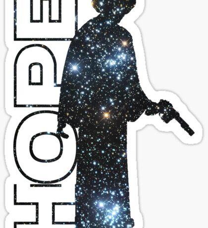 Princess Leia and Hope Sticker