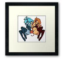 Lux and Zoe, Sisters Duo - Textless Framed Print
