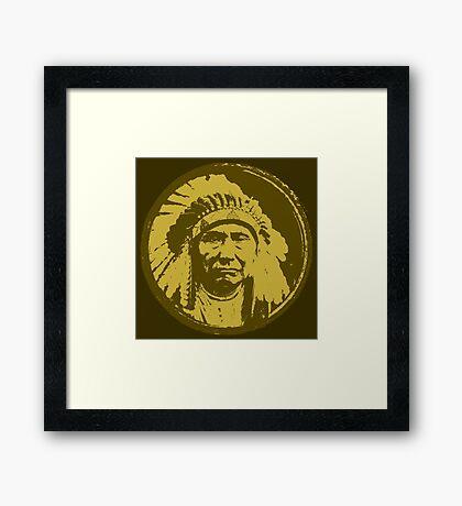 Vintage Native American Chief Framed Print