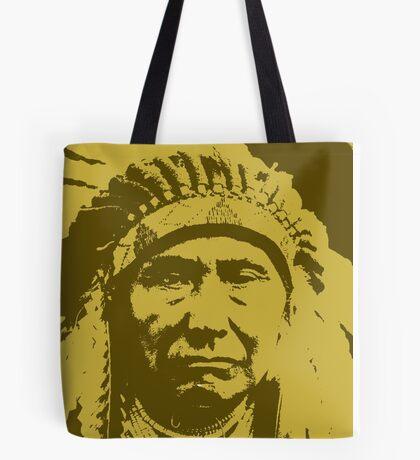 Vintage Native American Chief Tote Bag