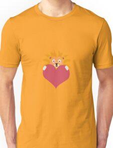 Romantic Lion with heart Unisex T-Shirt