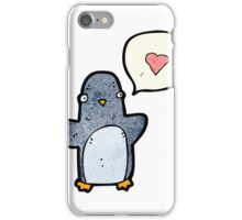 cartoon funny penguin iPhone Case/Skin