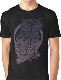 Celtic Owl Graphic T-Shirt