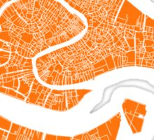 Venice Map (Orange) Sticker