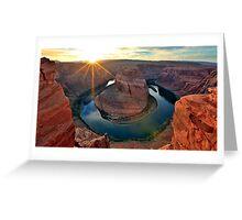 Horsehoe Bend, Page Arizona, Colorado River... Greeting Card