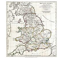 Map of England in Ancient Roman times - Horsley - 1794 Photographic Print