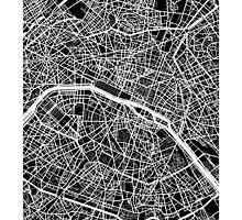 Paris Map (Black) by CartoCreative