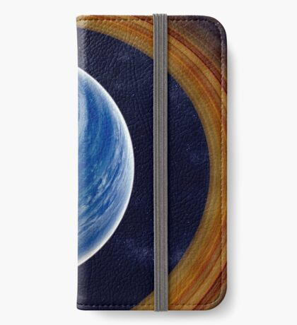 A ringed blue gas giant. iPhone Wallet/Case/Skin