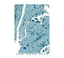 New York City Map Photographic Print