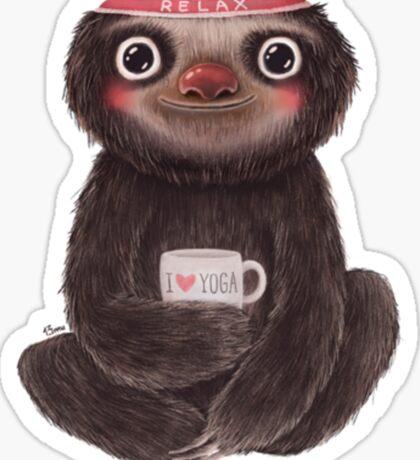 Sloth I♥yoga Sticker