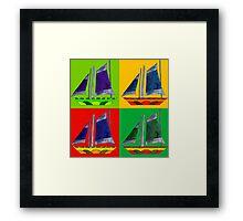 sailboat bright color Framed Print