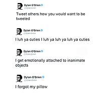 Best of: Dylan O'briens tweets Photographic Print