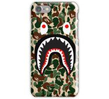 bape camo army shark iPhone Case/Skin