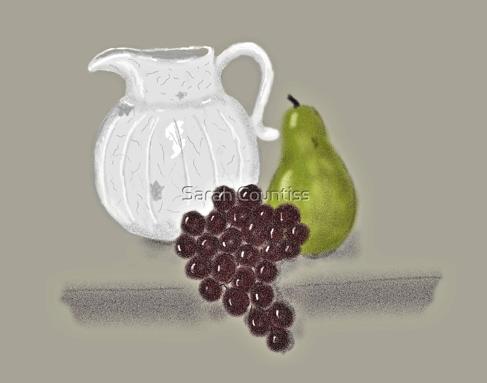 Still Life with Fruit and Jug by Sarah Countiss