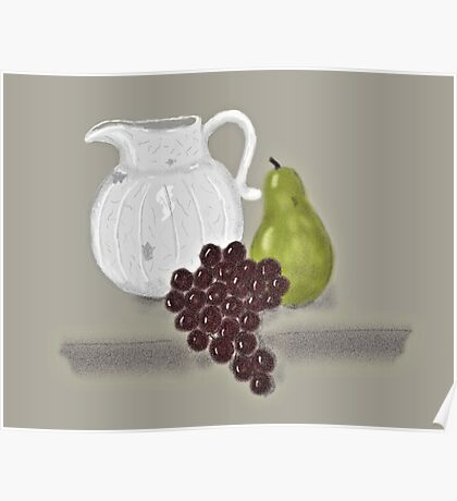 Still Life with Fruit and Jug Poster
