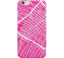 Los Angeles Map (Pink) iPhone Case/Skin