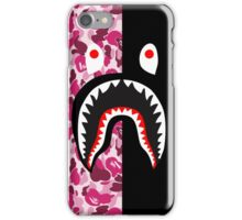 bape red black shark iPhone Case/Skin