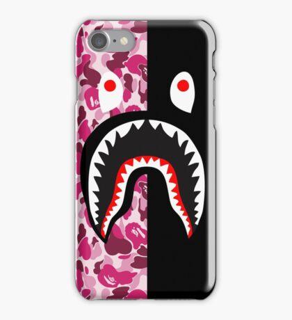 bape red black shark iPhone Case/Skin