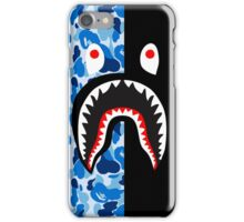 bape blue black shark iPhone Case/Skin