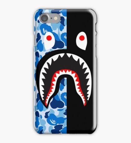 bape blue black shark iPhone Case/Skin