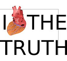 I love (heart) the TRUTH Photographic Print
