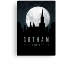 Gotham Moon Canvas Print