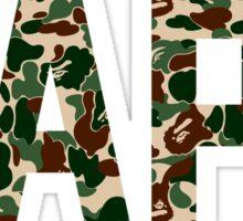 BAPE text army Sticker