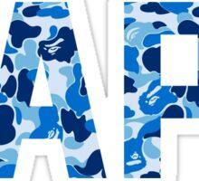 BAPE blue Sticker