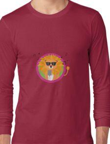 Singing music lion Long Sleeve T-Shirt